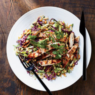 Food & Wine: Grilled Mango Chicken with Cabbage Salad