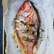 Food & Wine: Whole Roast Fish with Lemon and Herbs