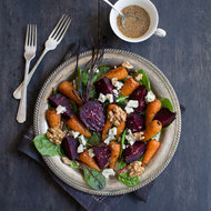 Food & Wine: British Roast Vegetable Salad with Stilton