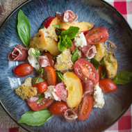 Food & Wine: Italian Peach Panzanella