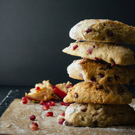 Food & Wine: Almond, Coconut and Pomegranate Scones