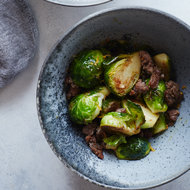 Food & Wine: Brussels Sprouts with Sausage and Cumin