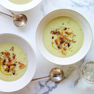 Food & Wine: Celery Soup with Bacon Croutons