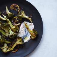 Food & Wine: Roasted Lemon Broccoli with Tahini-Yogurt Sauce