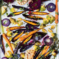 Food & Wine: Chicken-Fat-Roasted Vegetables with Gremolata