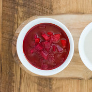 Food & Wine: Chunky Red Beet-and-Tomato Soup