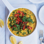 Food & Wine: Red Lentil Dal with Coconut Milk and Kale