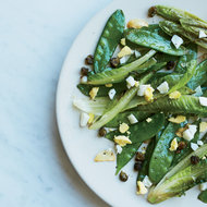 Food & Wine: Stir-Fried Snow Peas and Romaine