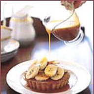 Food & Wine: Almond Cakes with Bananas and Warm Caramel Sauce