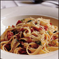 Food & Wine: Fettuccine with Quick Tomato Sauce and Hot Chili Oil