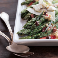 Food & Wine: Asparagus Salad with Roasted Peppers and Goat Cheese