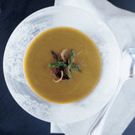 Food & Wine: Asparagus Soup with Roasted Shallots and Morels