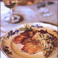 Food & Wine: Roasted Bass with Potatoes, Onions and Fennel