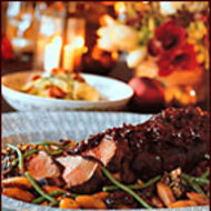Food & Wine: Roast Beef with Shallot Confit and Port Wine Sauce