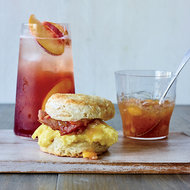 Food & Wine: Biscuit Breakfast Sandwiches with Peach-Ginger Jam