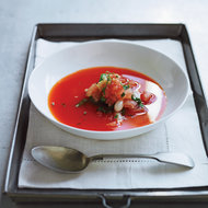 Food & Wine: Chilled Piquillo Pepper Soup with Fresh Bean Salad
