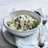 Food & Wine: Crab Risotto with Oyster Mushrooms