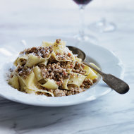 Food & Wine: Pappardelle with White Bolognese