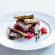Food & Wine: Pork Tenderloin with Fried Okra and Pickled Watermelon