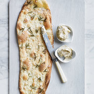 Food & Wine: Rosemary-Buttermilk Crackers with Chanterelle Spread