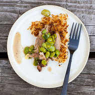 Food & Wine: Braised Chicken with Fava Beans