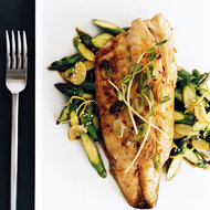 Food & Wine: Broiled Striped Bass with Ginger-Scallion Oil