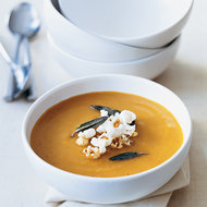 Food & Wine: Butternut Squash Soup with Popcorn and Sage