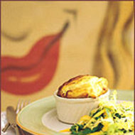 Food & Wine: Goat Cheese Souffle with Thyme