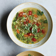 Food & Wine: Chicken-Orzo Soup with 10 Vegetables