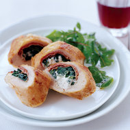 Food & Wine: Chicken Stuffed with Prosciutto, Spinach and Boursin