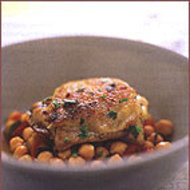 Food & Wine: Bay Leaf-Braised Chicken with Chickpeas