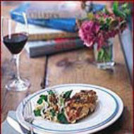 Food & Wine: Crisp Chicken with Fennel-Mushroom Salad