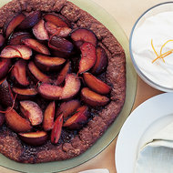 Food & Wine: Chocolate-Crusted Plum Galette