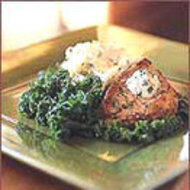 Food & Wine: Pork Chops with Mustard and Sour Cream Sauce