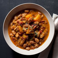 Food & Wine: Cranberry Bean and Pumpkin Stew with Grated Corn