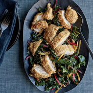 Food & Wine: Crispy Chicken Cutlets with Swiss Chard