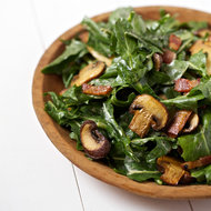 Food & Wine: Dandelion Salad with Bacon and Mushrooms