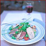 Food & Wine: Smoked Duck Salad with Foie Gras and Walnuts