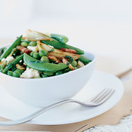 Food & Wine: Edamame and Pea Salad with Sweet Onions and Goat Cheese