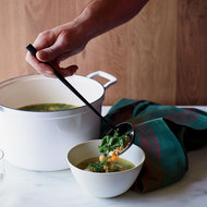 Food & Wine: Farro and Chickpea Soup with Chicken Meatballs