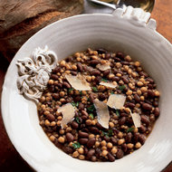 Food & Wine: Farro, Bean and Chickpea Soup