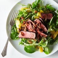 Food & Wine: Fiery Grilled Beef Salad with Oranges and Crispy Shallots