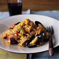 Food & Wine: Fresh Tuna and Mussel Paella