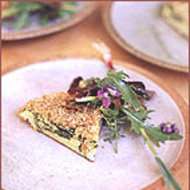 Food & Wine: Spring Spinach and Garlic Frittata