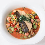 Food & Wine: Crispy Cod with Lima Beans, Crab and Corn