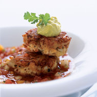 Food & Wine: Crab Cakes with Bloody Mary Gazpacho