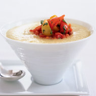 Food & Wine: Chilled Green Tomato Soup with Tomato Confit