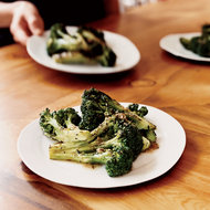 Food & Wine: Grilled Broccoli with Anchovy Dressing