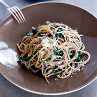 Food & Wine: Spaghetti with Lemon, Chile and Creamy Spinach