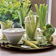 Food & Wine: Crudités with Wasabi Dip